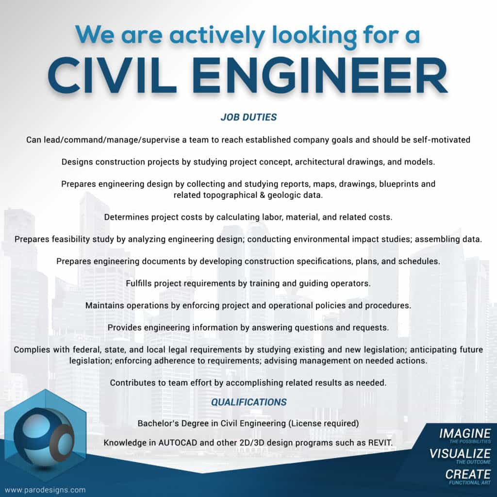 3d design civil engineer opening