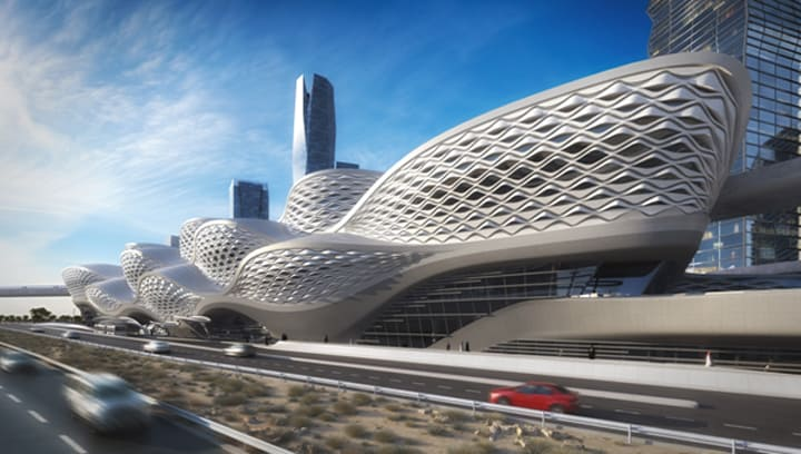 ICONIC Station - Riyadh Metro 3D Design